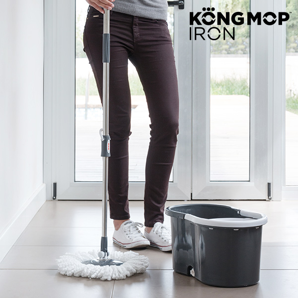 Kong Mop Iron Spinning Mop with Bucket
