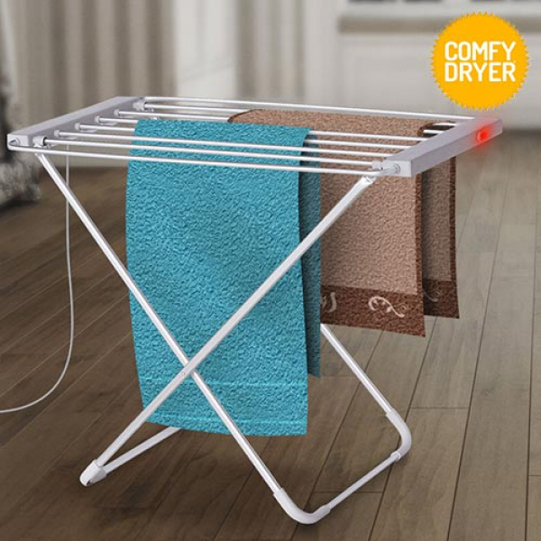 Heated Clothes Airer Thermic Dynamics Comfy Dryer 100W Grey (6 Bars)