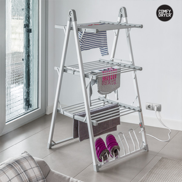Heated Clothes Airer Thermic Dynamics Comfy Dryer Compak 300W Grey