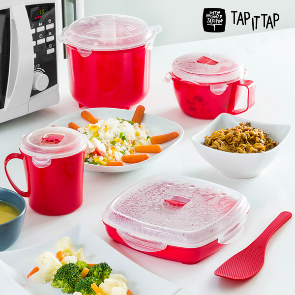 Tap It Tap Microwave Steamer Set (11 pieces)