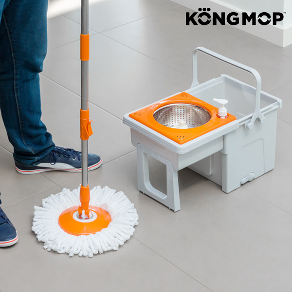 Kong Mop Easy swivel mop with sliding bucket