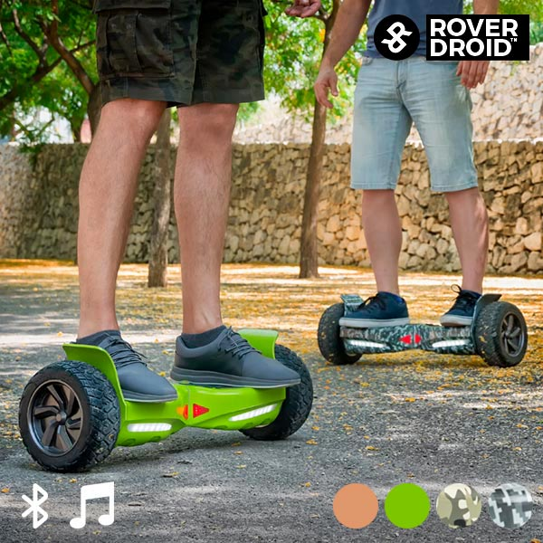 Electric Hoverboard Bluetooth Scooter with Rover Droid Stor 190 Speaker