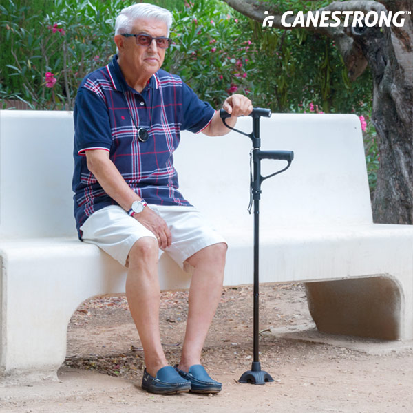 Canestrong Folding Double Handle LED Walking Stick