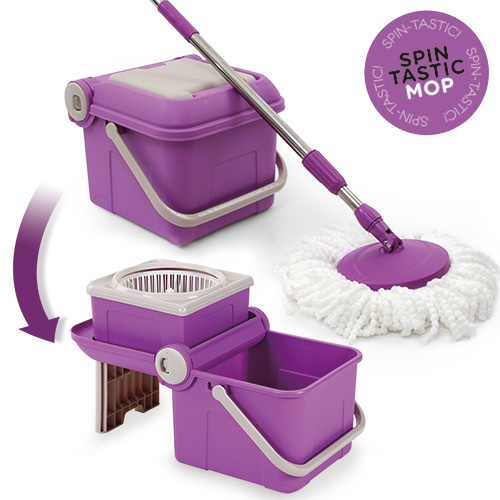 Spin Tastic Mop Rotating Mop and Collapsible Bucket without Pedal